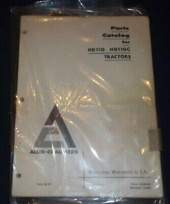 Allis Chalmers Hd11g Hd11gc Crawler Tractor Dozer Bulldozer Parts Manual Book