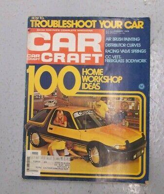 January Craft Ideas (CAR CRAFT MAGAZINE JANUARY 1976 100 HOME WORKSHOP IDEAS AIR BRUSH)