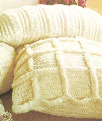 Шаблоны *2 Textured Pillows crochet PATTERN