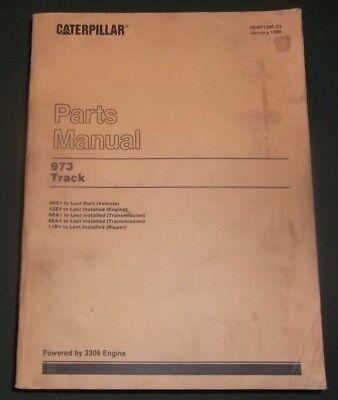 Cat Caterpillar 973 Track Loader Dozer Parts Book Manual Sn 66g00001-up
