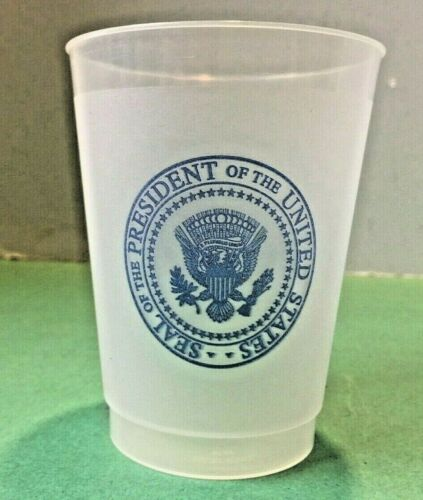 Air Force One Presidential Seal Plastic Dishwasher safe Reusable Cup  SHIPS FREE
