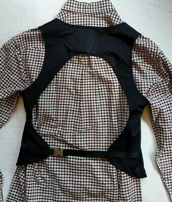 Vtg Prada Open Back Black Nylon Silk Tunic Vest Gilet Waistcoat Bodysuit Singlet
