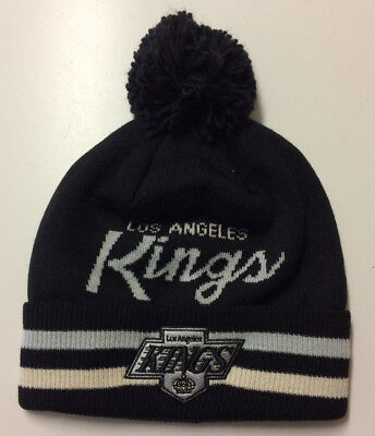 Los Angeles Kings LA Adidas NHL Knit Hat Beanie Stocking Cap Vintage Hockey Pom for sale  Shipping to Canada