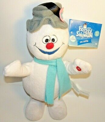 "GEMMY FROSTY THE SNOWMAN 13"" SIDE STEPPER ANIMATED MUSIC PLUSH W/ TAG VERY NICE"