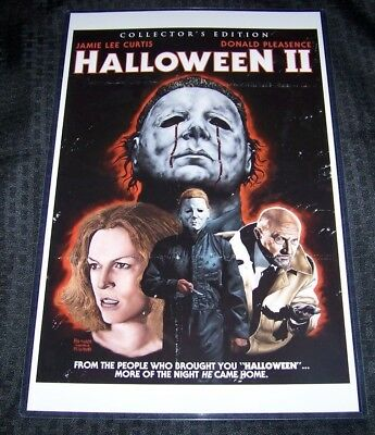 Halloween II 11X17 DVD Cover Movie Poster Dick Warlock
