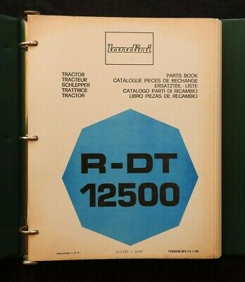 Genuine Landini R-dt 12500 Tractor Parts Catalog Manual Wbinder 300 Pgs Nice