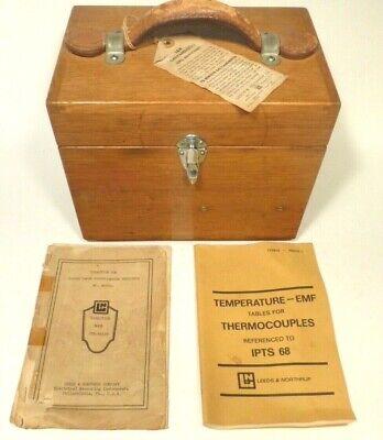 Vintage Working Leeds Northrup Double Range Potentiometer Indicator Manuals
