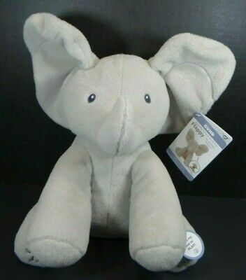"Gund Baby Animated Flappy The Elephant Plush 11"" NWT Peek A Boo Ears Hang Low"
