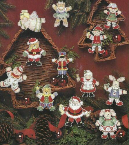TRIM THE TREE--12 Christmas Ornament Designs-Santa--Counted Cross Stitch Pattern