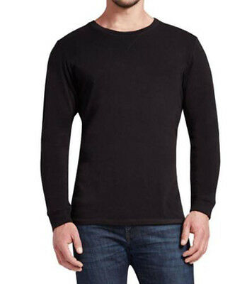 Degree Tee Shirts - Weatherproof 32 Degrees Men's Crew Neck Long Sleeve Tee Shirt Black