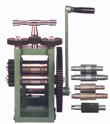 Rolling mill 80mm wide Rollers Includes 5 different rollers (dp140)