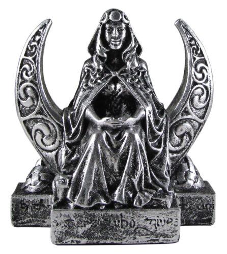Small Moon Goddess Figurine - Wicca Lunar Witch Pagan Altar Statue Dryad Design