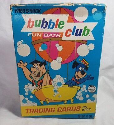 Vintage Fred & Huck Bubble Club Fun Bath Unopened Box Hanna Barbera Purex 1968