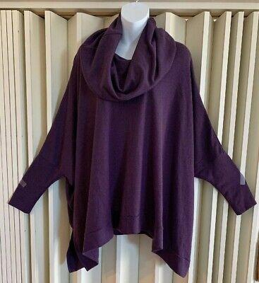 Brand New Charlie Paige Purple Poncho Tunic Top One Size $69.99 NWT](Purple Poncho)