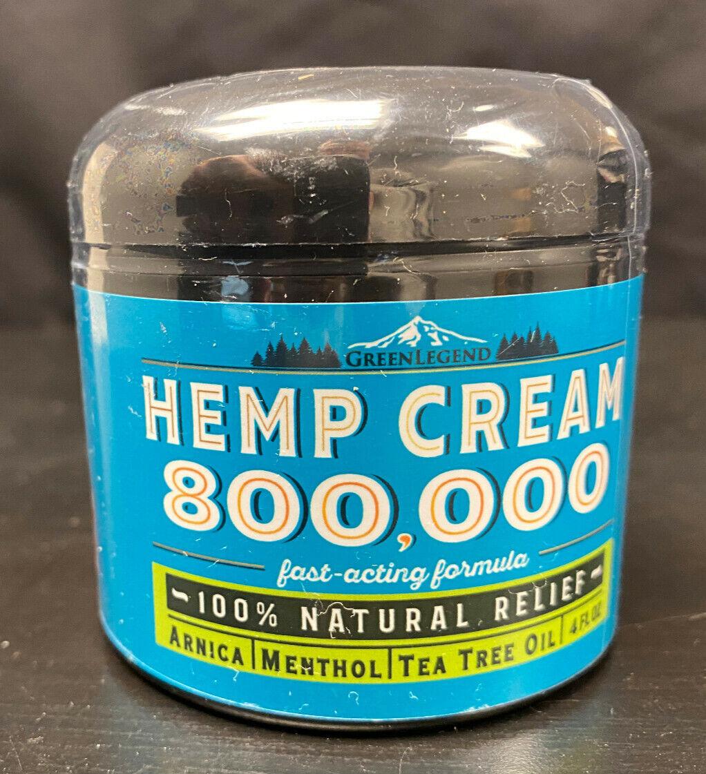 Hemp Cream 800,000 4oz Fast Acting Natural Muscle Joint Knee Arthritis Back Pain