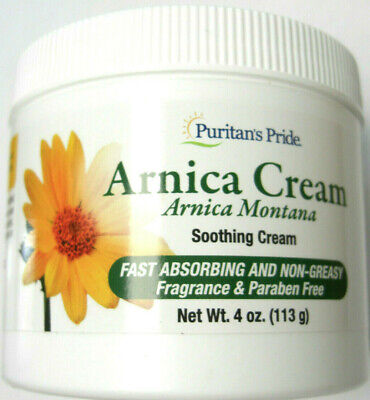 Arnica Soothing Cream Fast Absorbing Non Greasy 4oz. Fragrance & Paraben Free