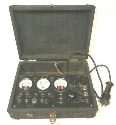 Vintage Readrite Tube Tester 700 For Early 4 5 Pin Tubes - Tested Working