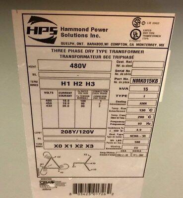 Hammondhps Nmk015kb 15kva Transformer