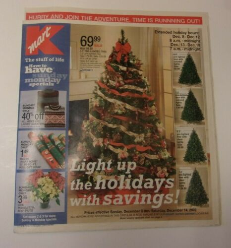 Kmart store sales ad: Christmas 2002 (December 8-14)