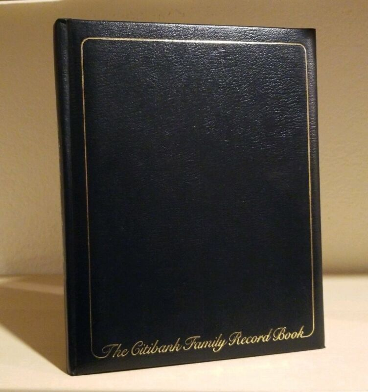 The Citibank Family Record Book 1982
