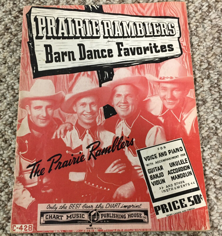 Prairie Ramblers Barn Dance Favorites  Sheet Music 1941