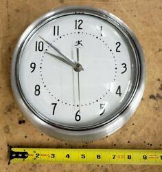 9 1/2 Analog Wall Clock with Metal Housing