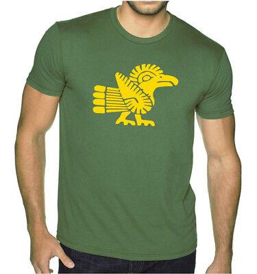 New Men's Ancient Aztec Parrot Military Green T Shirt Mexico Mayan Calendar V385 Parrot Green T-shirt