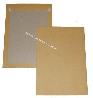 5 Papprückwand Versandtaschen Briefumschläge braun C4 229 x 324 o. Fenster