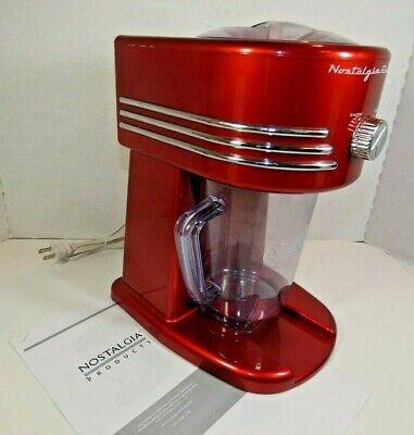 Nostalgia Electrics Snowslush Maker Machine Fbs400 Red 9 X 2.75 Xlnt Cond