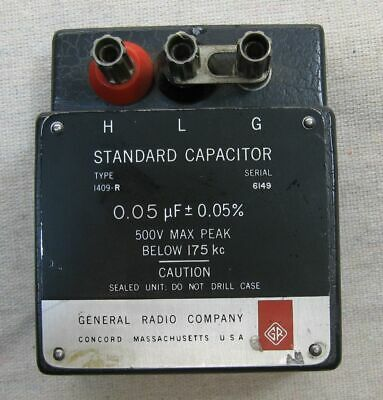 General Radio Standard Capacitor Model 1409-r