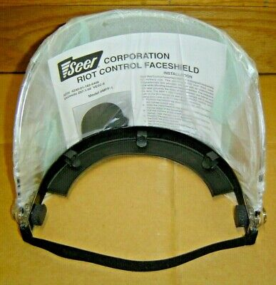 New Seer Riot Control Face Shield Mff-1 For Pasgt Nato M-1 Rothco Helmet Visor