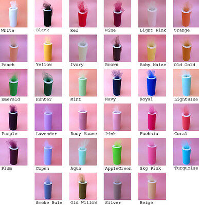 "6""X25YDS Tulle Spool Wedding Bridal Party Favor Decoration T"