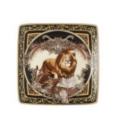 VERSACE LION ASH TRAY MEDUSA ROSENTHAL CHRISTMAS GIFT SALE NEW IN BOX ORIGINAL