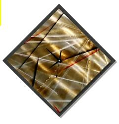 Metal Wall Clock Art Modern Wall Sculpture Abstract Gold Black Decor Jon Allen