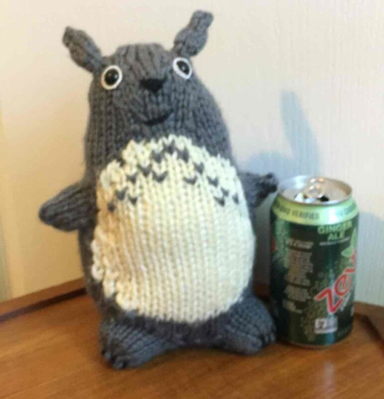 Studio Ghibli My Neighbor Gray TOTORO Handmade Crochet Plush Anime Stuffed Doll