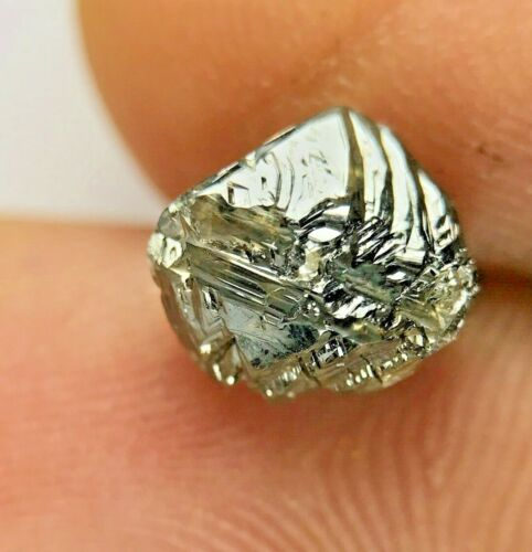 Big Rough Diamond 2.72TCW Grayish Brown Sparkling Natural Octahedron Shape Gift