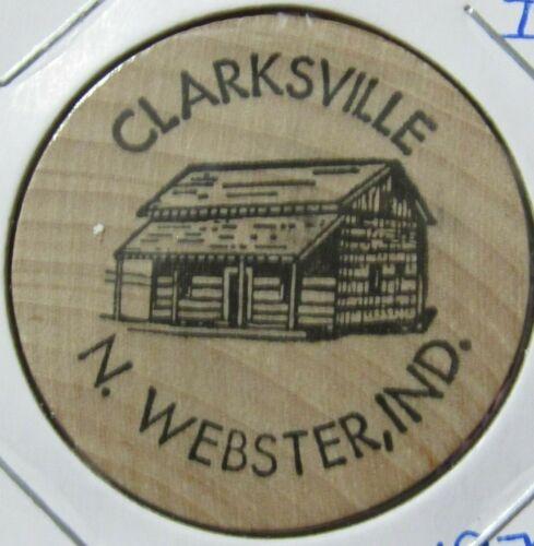 1976 Clarksville Admission North Webster, IN Wooden Nickel - Token Indiana