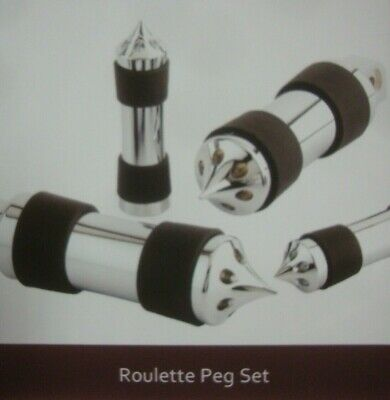 BIG DOG MOTORCYCLES ROULETTE FULL SET FOOT PEGS W PASSENGER TOE GRIPS 2004-11