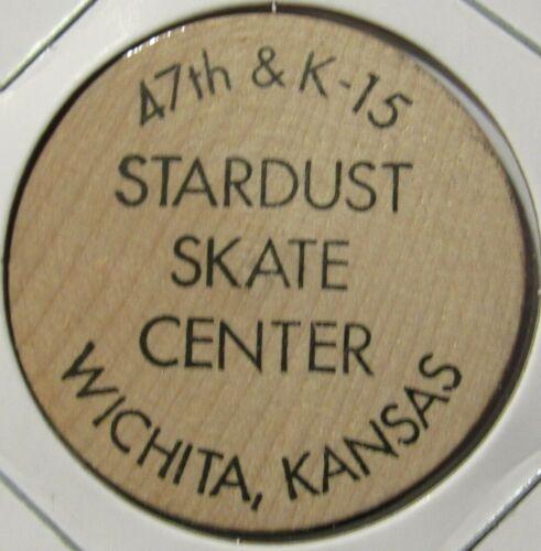 Vintage Stardust Skate Center Wichita, KS Wooden Nickel - Token Kansas