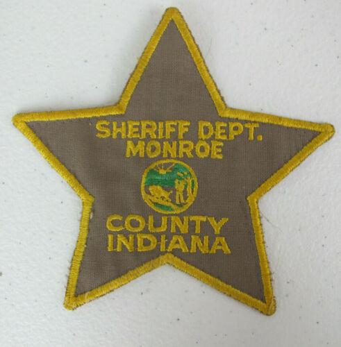 Sheriff Department Monroe County Indiana Star Uniform Patch VTG