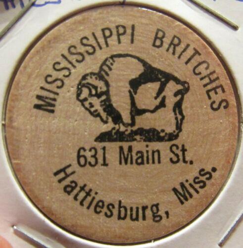 Vintage Mississippi Britches Hattiesburg, MS Wooden Nickel - Token Mississippi