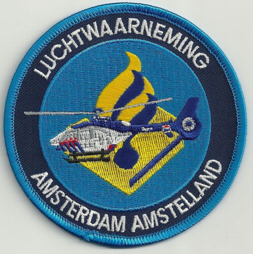 AMSTERDAM (AMSTELLAND) NETHERLANDS POLICE LUCHTWAARNEMING AIR SUPPORT  PATCH
