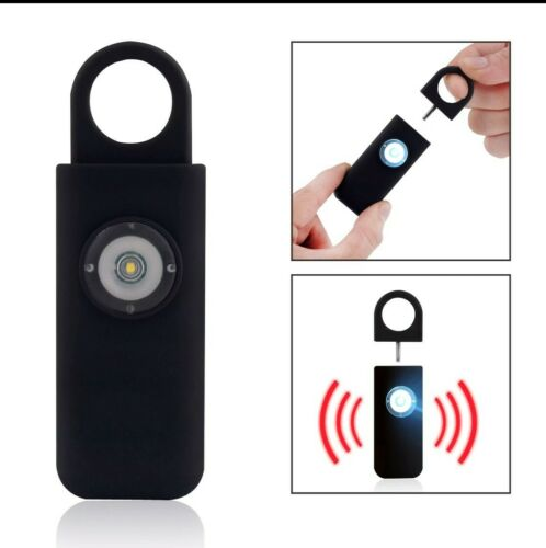 Panic Personal Safety Loud Alarm Keychain LED Light 130db Self-Defense Siren