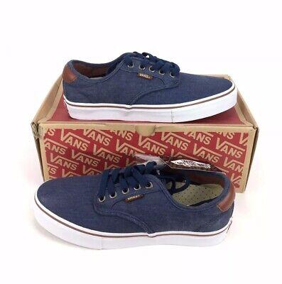 NEW Vans Chima Ferguson Pro Twill Navy Blue Skate Shoes Sneakers Mens Size 7.5