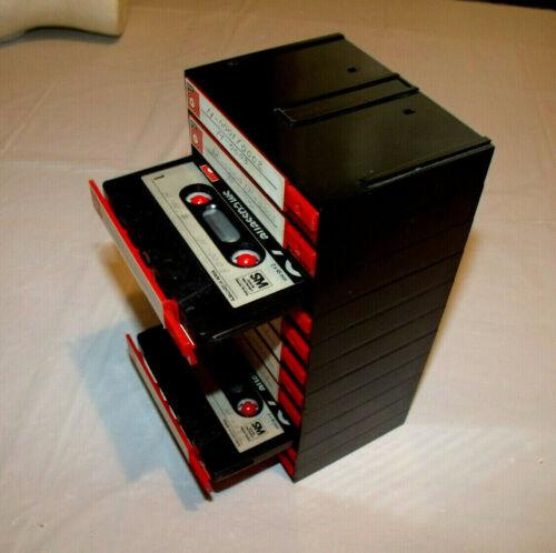 BASF Chrome Dioxide 90 Blank Cassette Tape Lot of 11 in Interlocking CBOX Holder