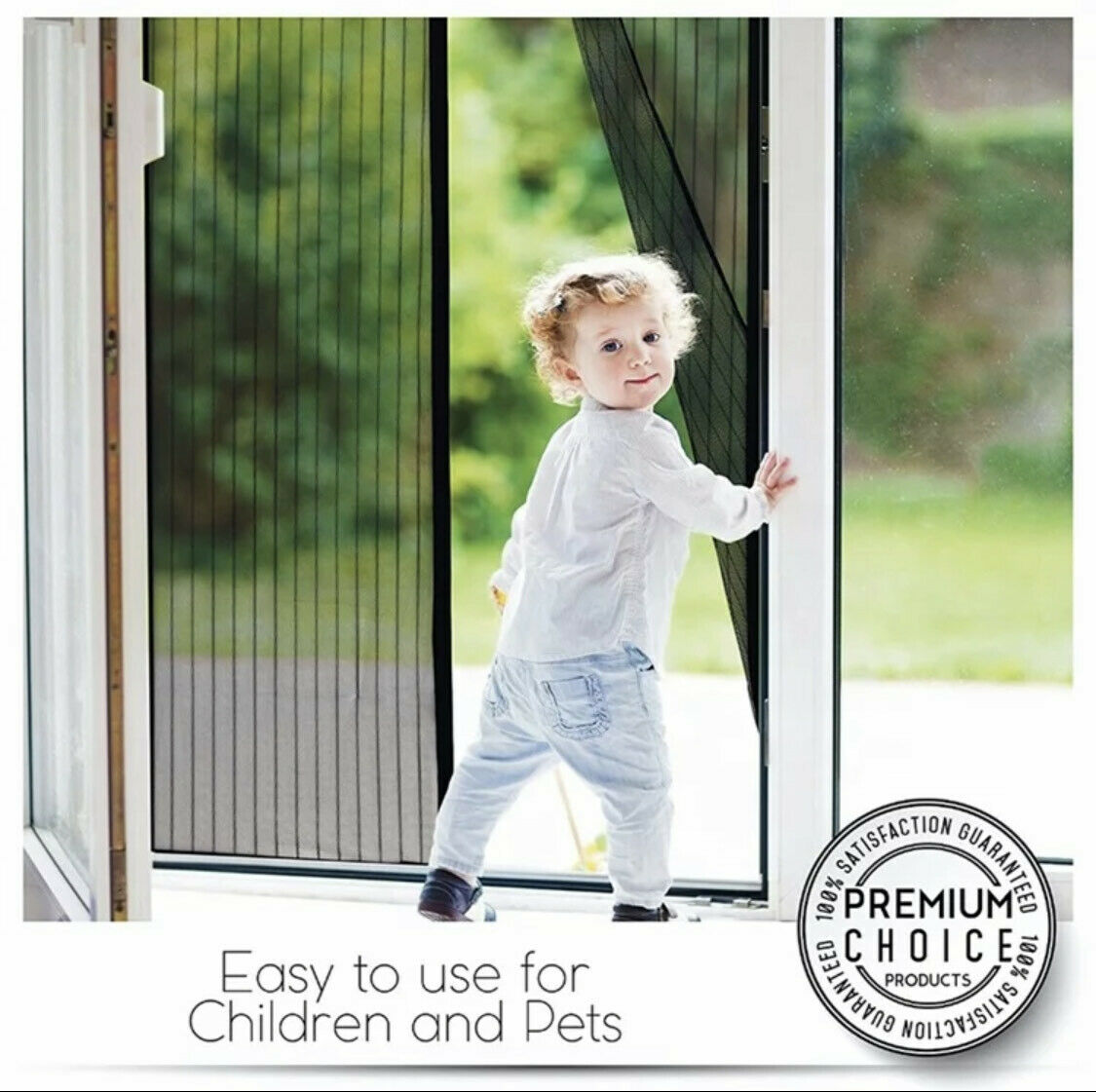 Magnetic Screen Door Magic Instant Mesh Screen Walk Through
