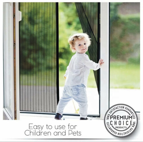 Magnetic Screen Door Mesh Curtain Durable Heavy Duty Mosquito Net Bug Hands Free