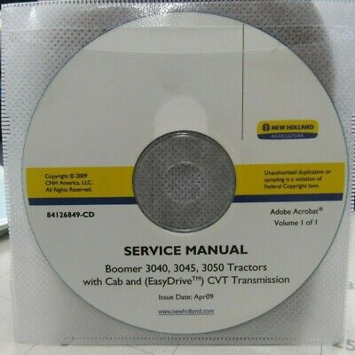 New Holland Boomer 3040 3045 3050 Tractors Service Manual On Cd