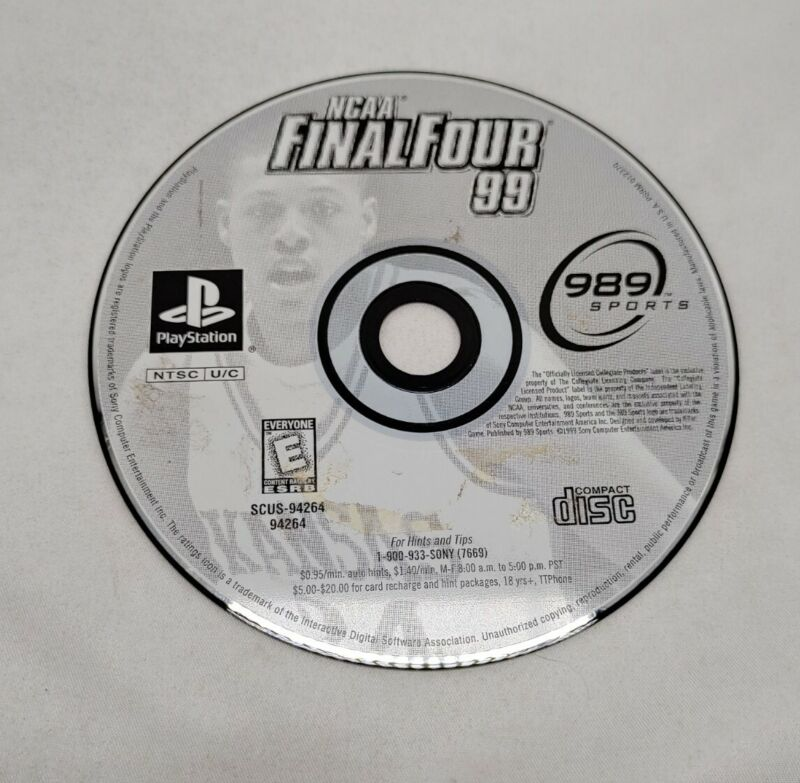 NCAA Final Four 99 Sony PlayStation 1 ps1 disc only tested