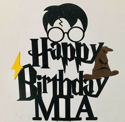 Harry Potter Inspired Happy Birthday Cake Topper Decoration Kids Party - Inspired Cake Topper
